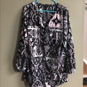 INC animal print tunic. Size 12